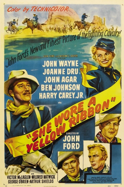 She Wore A Yellow Ribbon Film Poster